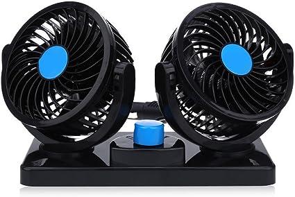 Ventilador Coche Ventilador de 2 engranajes azul Ventilador de ...