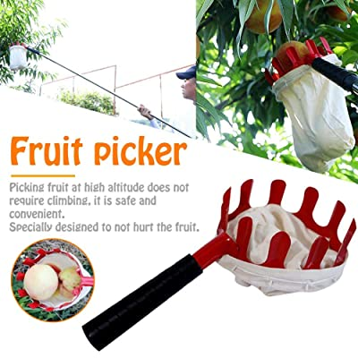 Fruit Picker with Large Capacity Bag, Fruit Picking Tools, Fruits Catcher for Harvest Picking Apple Citrus Pear Peach, Harvester Garden Tools for Farmer : Garden & Outdoor