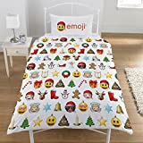 Emoji Bed Set Single Emoji Christmas Duvet Set, Polyester-cotton, Multi, Single