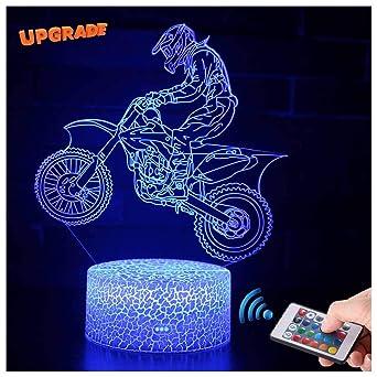 Frohe Weihnachten Motorrad.3d Motorrad Rennfahrer Lampe Led Nachtlicht Mit