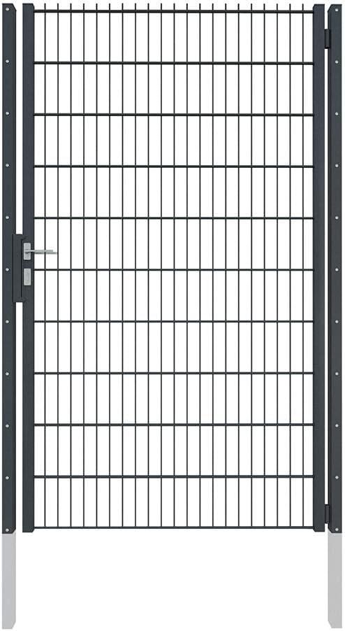 Camas Ben Light Drahtgittertor 1630 mm x 1250 mm Anthrazit RAL 7016 das robuste Gartentor f/ür Doppelstabmattenzaun