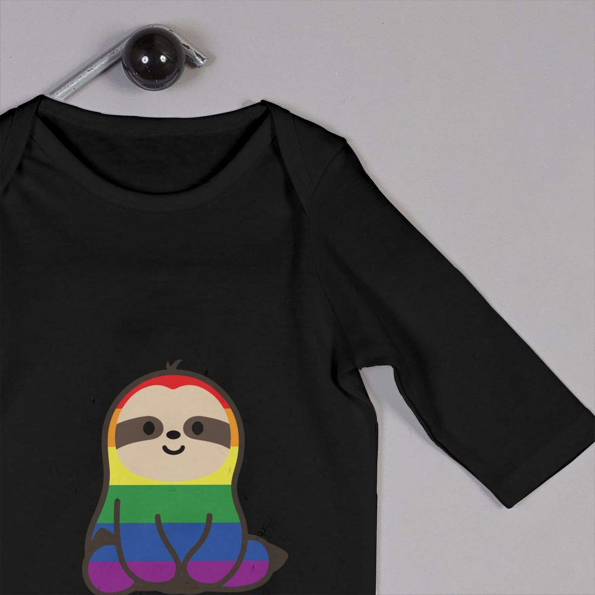 Fasenix Cute Cartoon Sloths Newborn Baby Boy Girl Romper Jumpsuit Long Sleeve Bodysuit Overalls Outfits Clothes