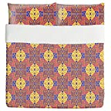 Opulence To The Square Duvet Bed Set 3 Piece Set Duvet Cover - 2 Pillow Shams - Luxury Microfiber, Soft, Breathable
