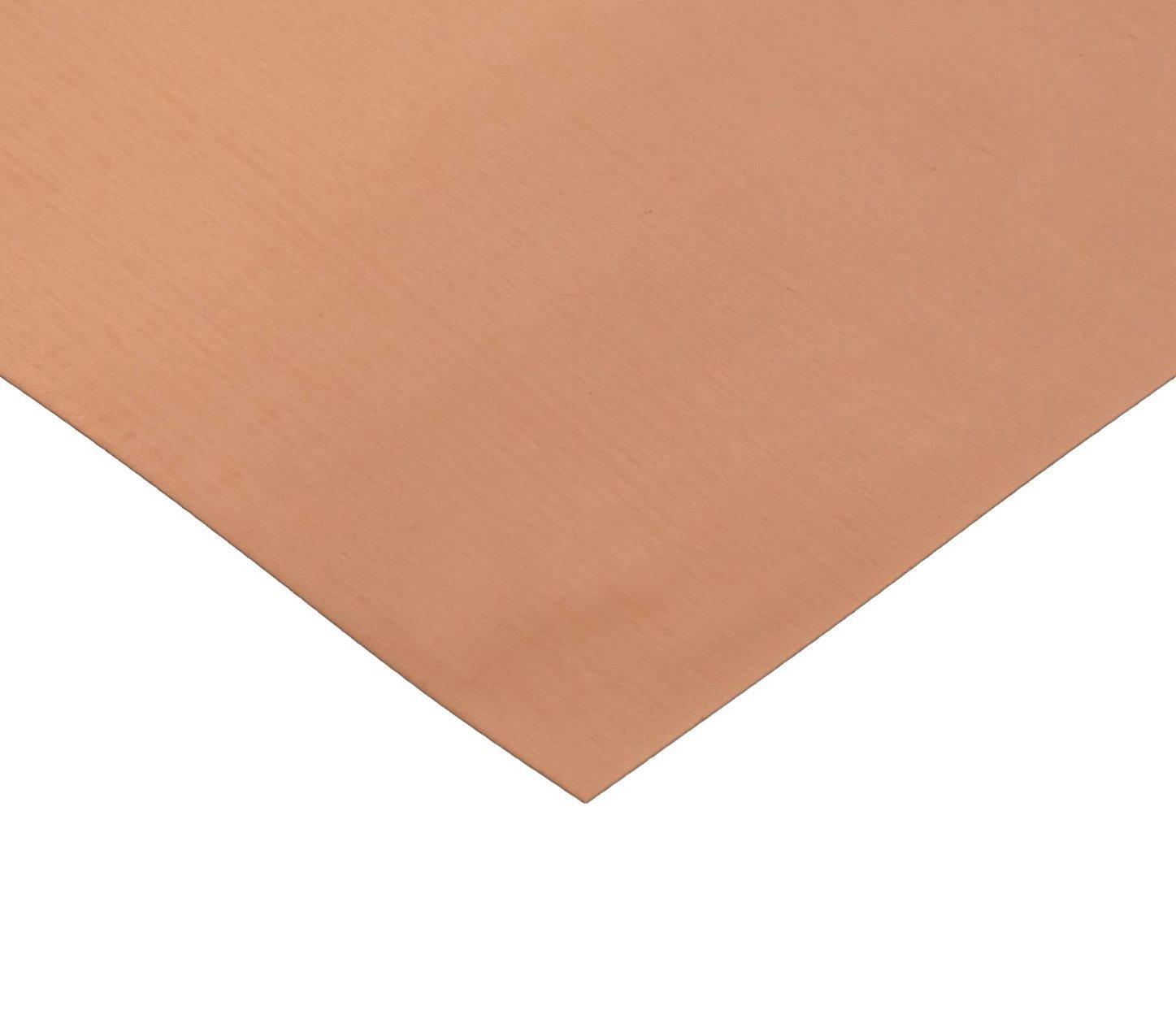 RMP 110 Copper Sheet - 12 Inch x 12 Inch x 0.064 Inch Thickness (48 Oz.) 1/8 Hd by RMP