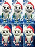 """Nightmare Before Christmas Mini JACK SKELLINGTON 6 Piece Red and Green Christmas Tree Ornaments - Around 2"""" Tall"""