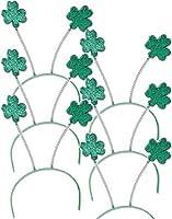 Set 6 St Patricks Day Green Shamrock Head Boppers Hats
