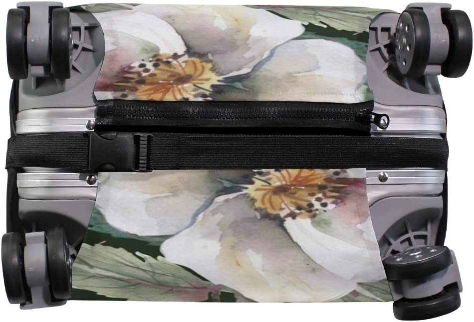 18//22//26//29 Inch Travel Suitcase Luggage Protective Cover with White Rose Zebra Couple