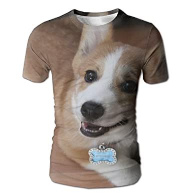 T-shirts Corgi Dog T-shirt Men Funny Printed T Shirt Women Tops Tees Short Sleeve Casual Tshirts Tops & Tees
