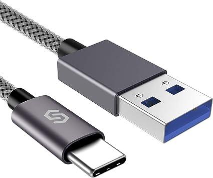 Huawei P20//P10//P30//P9 OnePlus 2 und mehr HTC 10//U11 2M Schnell USB Typ C auf USB 3.0 Ladekabel f/ür Type C Ger/äte Nexus 5X//6P Nylon Grau Syncwire USB C Kabel ladekabel Samsung Galaxy S8//S9//S10