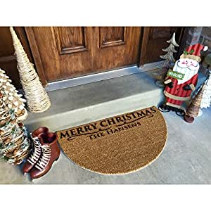 Personalized Christmas Door Mats - 2 Shapes, 2 Designs!