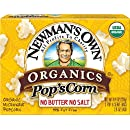 Newman's Own Organics Pop's Corn, Organic Microwave Popcorn, Unsalted, 3-Count, 8.4-Ounce Boxes (Pack of 12)