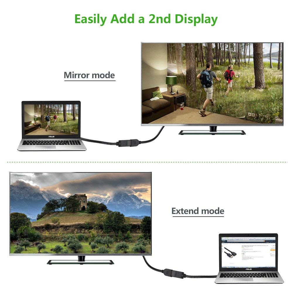 JBingGG DisplayPort Cable,DP to DP Cable,12inch High Definition Gold Plated 90 Degree Audio and Video Extension Adapter Cable, Compatible PC TV Laptop