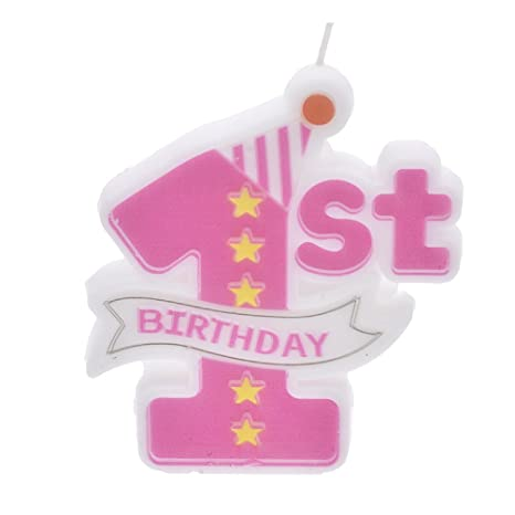 YNuth Vela de 1 Año para Decoración de Pastel de Cumpleaños de Niños