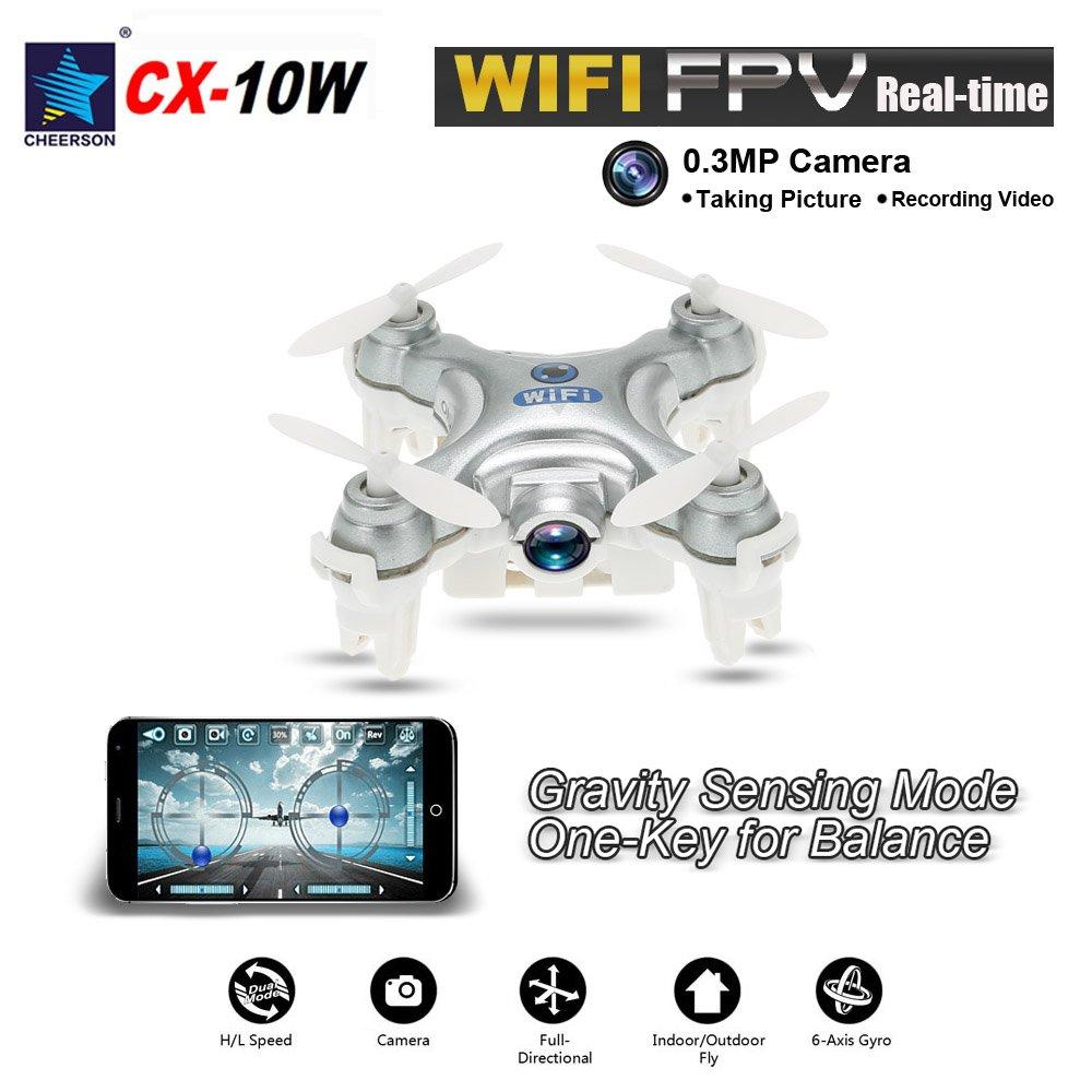 GoolRC Mini drone a 2,4 GHz con fotocamera da 0,3 Mp con giroscopio a 6 assi rosa