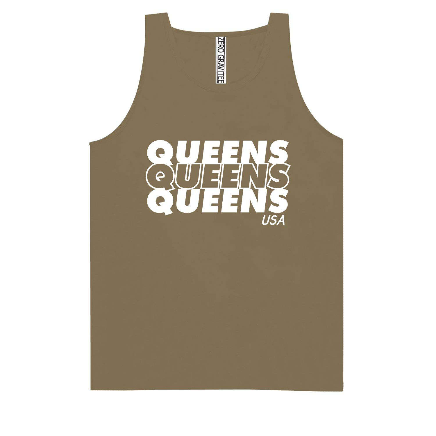 Queens USA Adult Pigment Dye Tank Top