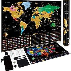 Scratch Off Map of The World + Scratch O...