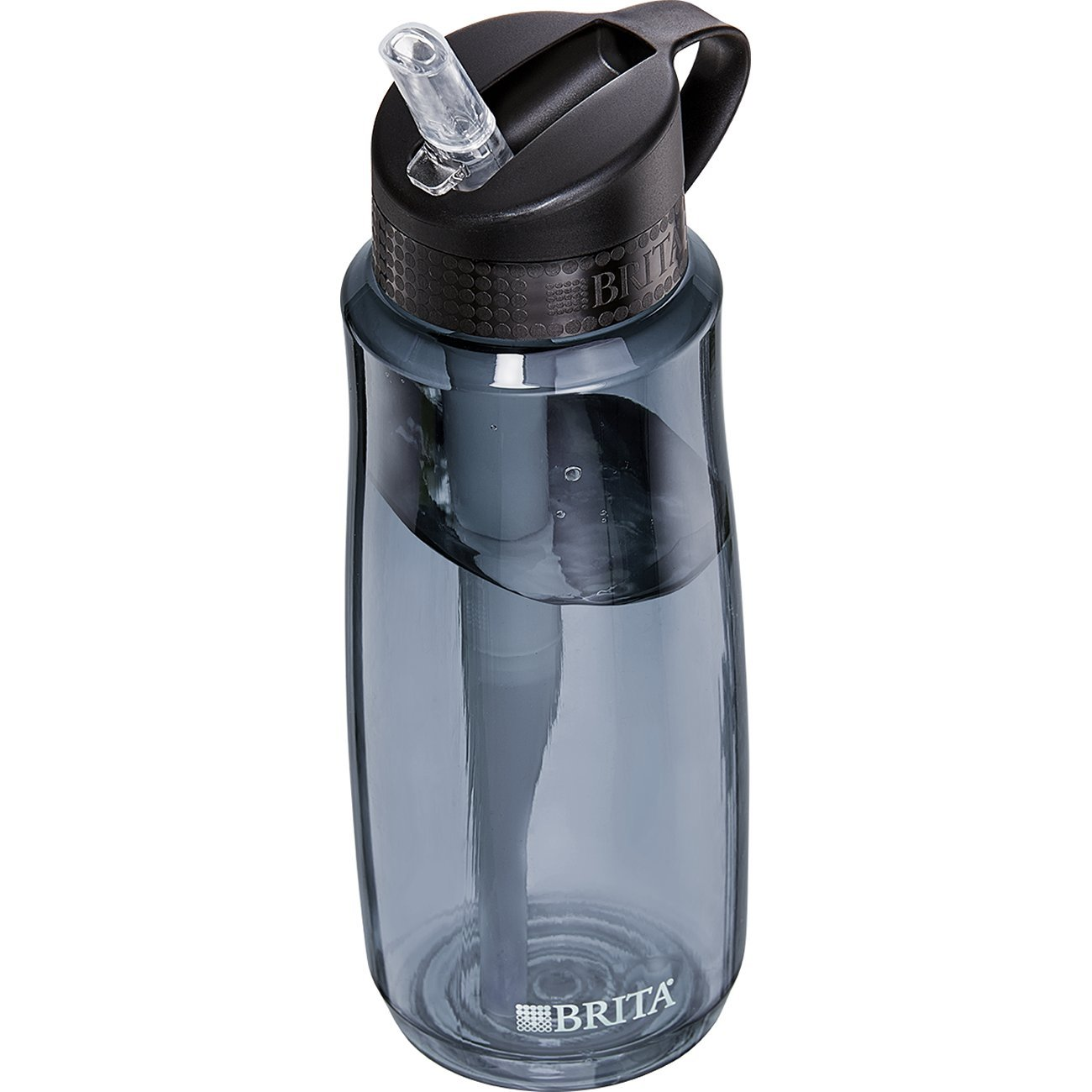 Brita 23.7 Ounce Hard Sided Water Bottle with Filter - BPA Free - Gray by Brita (Image #4)