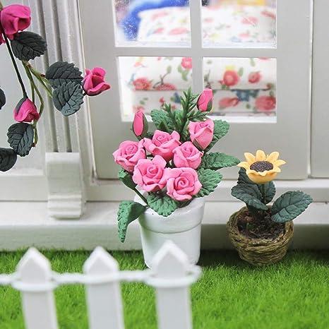 Stunning Flower Dollhouse Miniature Candle Centerpiece NEW ITEM Bronze