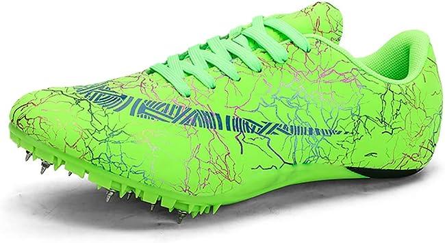 ZLYZS Zapatos De Atletismo Juvenil, Long Jump Spikes Athletic Sprint Running Spikes Arranque Zapatos De Entrenamiento Ligeros Antideslizantes Zapatillas Deportivas Transpirables para Correr: Amazon.es: Deportes y aire libre