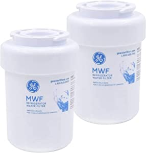 PONNIC MWF Refrigerator Water Filter Replacement for GE Smart Water MWF Compatible Cartridge, Compatible with GE MWF SmartWater, MWFA, MWFP, MWFAP, GWF, HWFA, Pack of 2