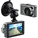 AKASO D2000 Car Dash Cam FHD 1080P 3 Inch LCD 170 Degree Wide Angle Dashboard Camera Recorder with G-Sensor, WDR, Loop Recording