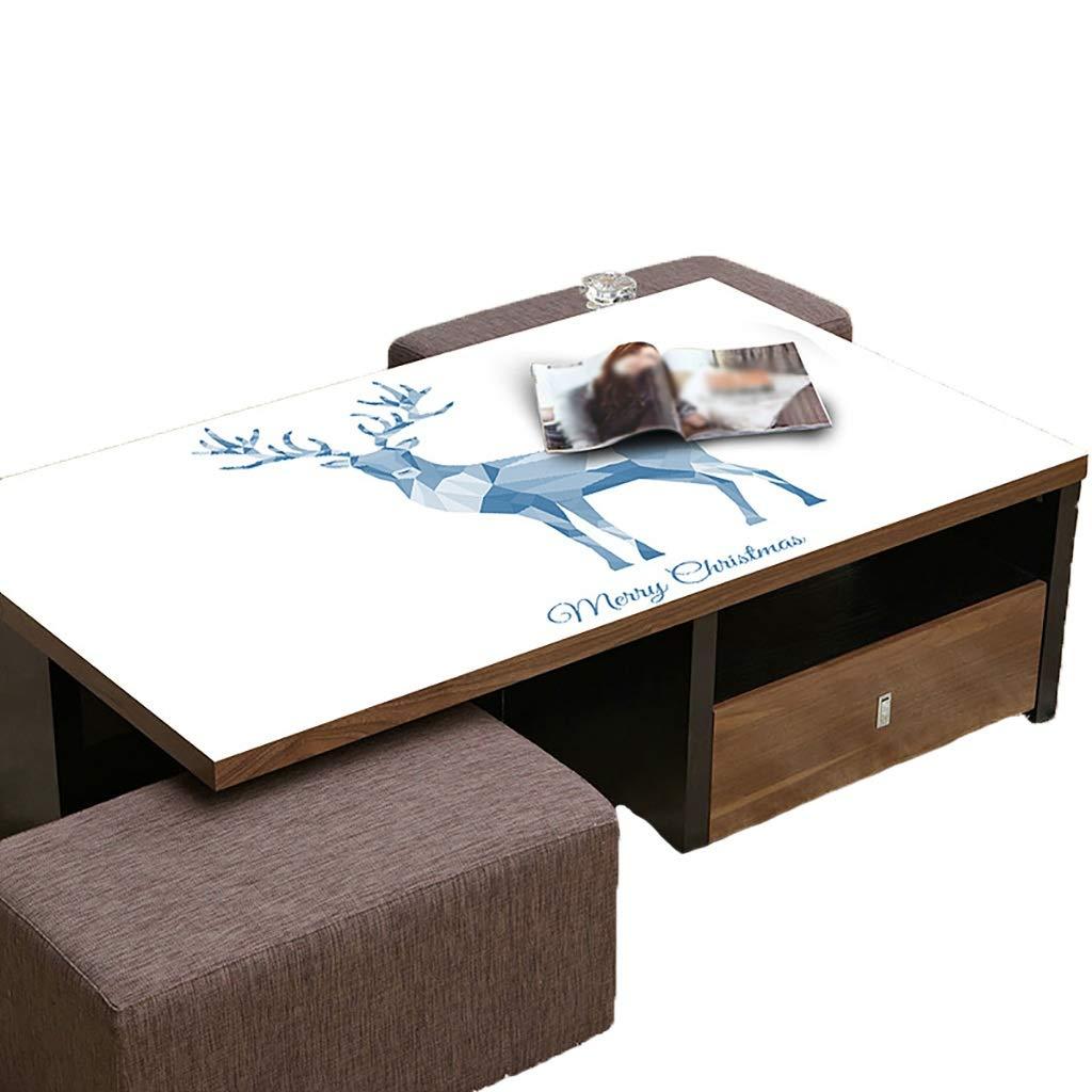 テーブルクロスソフトグラスPVC 70x120cm防水アンチホットアンチオイル簡単クリーンテーブルプロテクターコーヒーティーテーブルマットプラスチックテーブルクロス (サイズ さいず : 70x120cm) 70x120cm  B07S1LVL9C