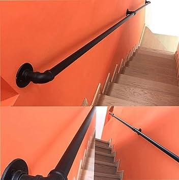 ACZZ Barandilla de escalera Barandilla Barandilla, 1 pie-20 pies de hierro forjado Negro barandilla de la escalera, Estilo Industrial Inicio interior y exterior Corredor Loft Antiguo muro de deslizam: Amazon.es: Bricolaje y