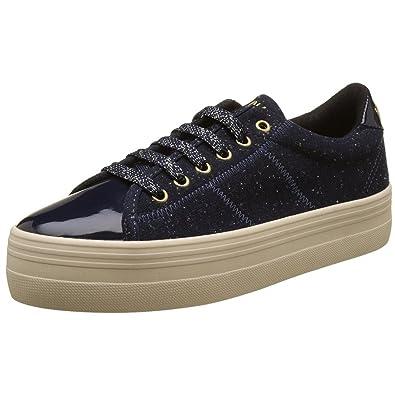 No Name Plato Sneaker Patent Polar, Baskets Basses Femme, Noir Black, 39 67bc32d0b37a