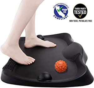 Premium Anti-Fatigue Comfort Mat for Standing Workstation Office Desk Kitchen Active Standing Desk Mats Walking Pad Balance Cushion Floor Boards with Acupressure Massage Ball (Orange)