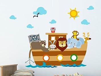 Buy Asian Paints WallOns Noahs Ark Wall Sticker PVC Vinyl - Wall decals noah's ark