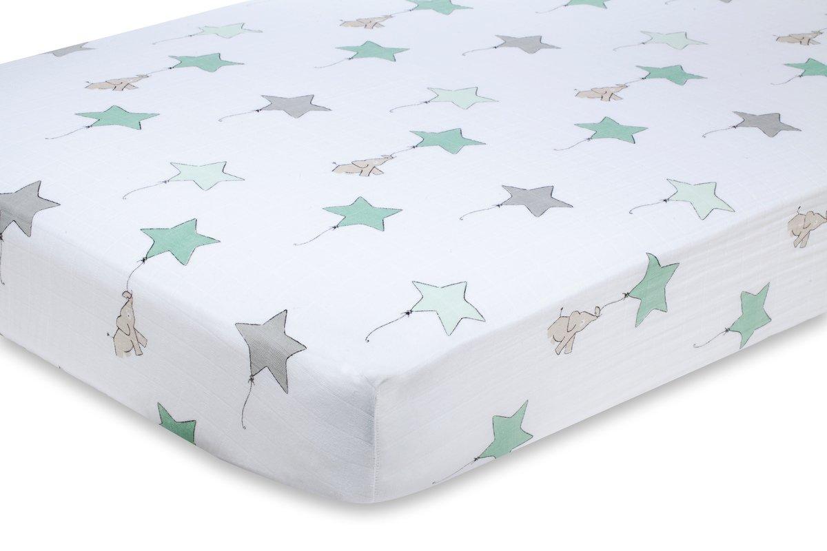 aden + anais crib sheet, up up and away