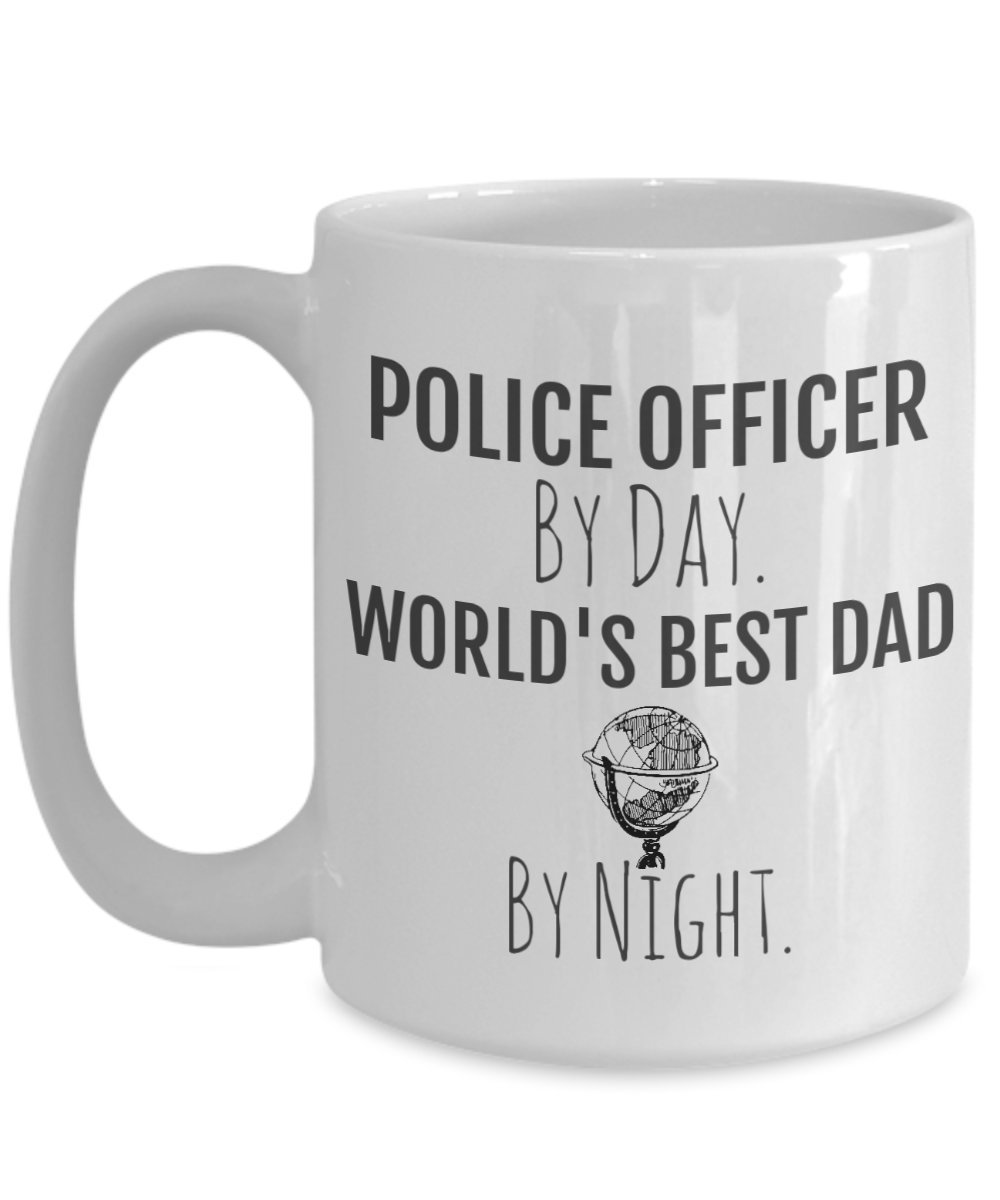 Amazon.com: Police Officer Dad Gifts - Police Officer By Day ...