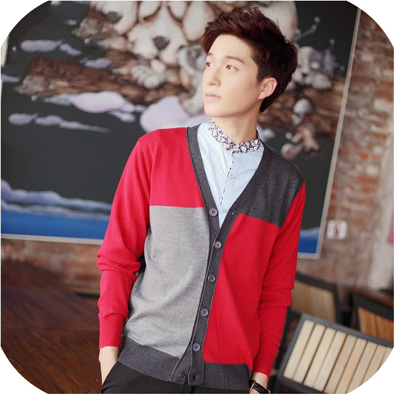 100/% Cotton Knit Cardigan Mens Autumn Winter Coloured V Neck Thin Sleeveless Sweater