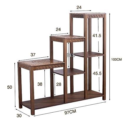 Amazon.com: Soporte de madera maciza de bambú, para salón ...