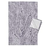 Woodgrain Wood Grain Wood Texture Driftwood Wood Purple Tea Towels Woodgrain Dark Purple - by Rebecca Reck Art Set of 2 Linen Cotton Tea Towels