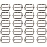 BQLZR Metal Sliding Bar Tri-glides Wire-formed Roller Pin Buckles Slider 25mm Strap Adjuster Pack of 20 by BQLZR