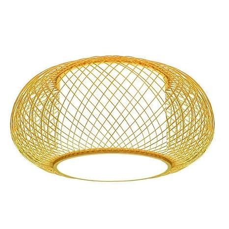 Iluminación Luz De Techo Lámpara Colgante Bambú Mimbre Rota ...