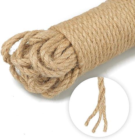 corde de chanvre naturel prix 1 m/ètre lin/éaire 6 corde de chanvre tress/ée pour bricolage bateau bande et desserte Arts Escalade DIY D/écoration 6mm naturel 40 mm na Corde de jute