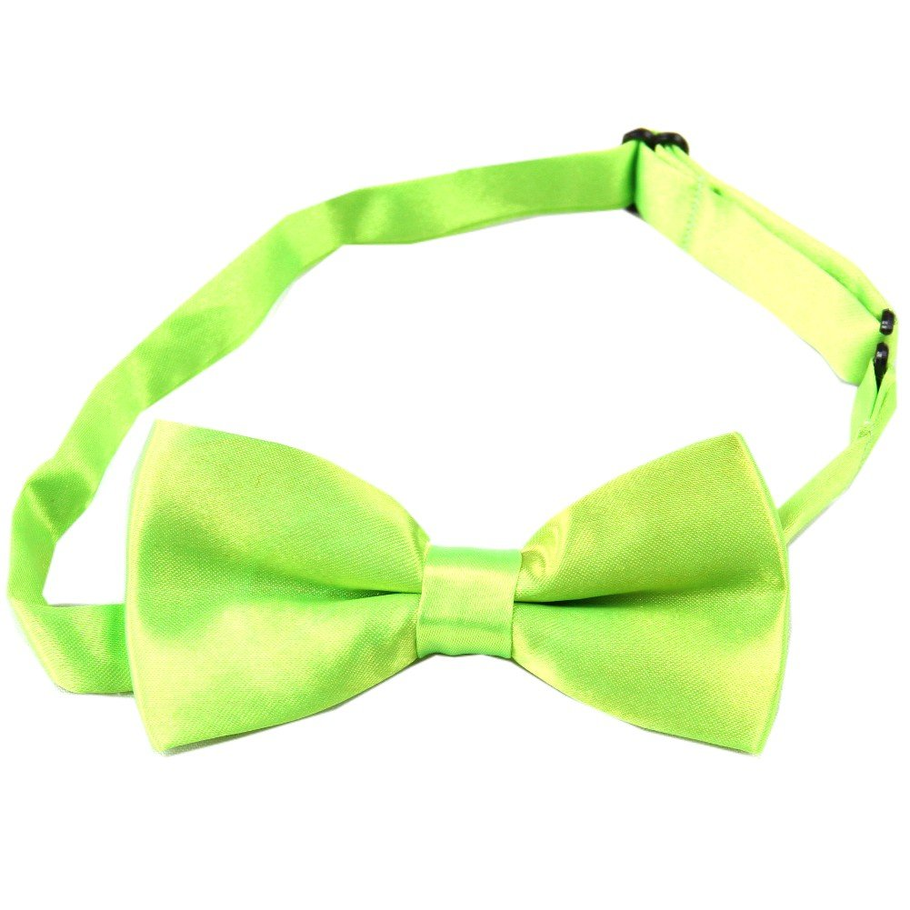 Enwis kids Bow Tie Pre Tied Wedding Party Solid Emerald Green