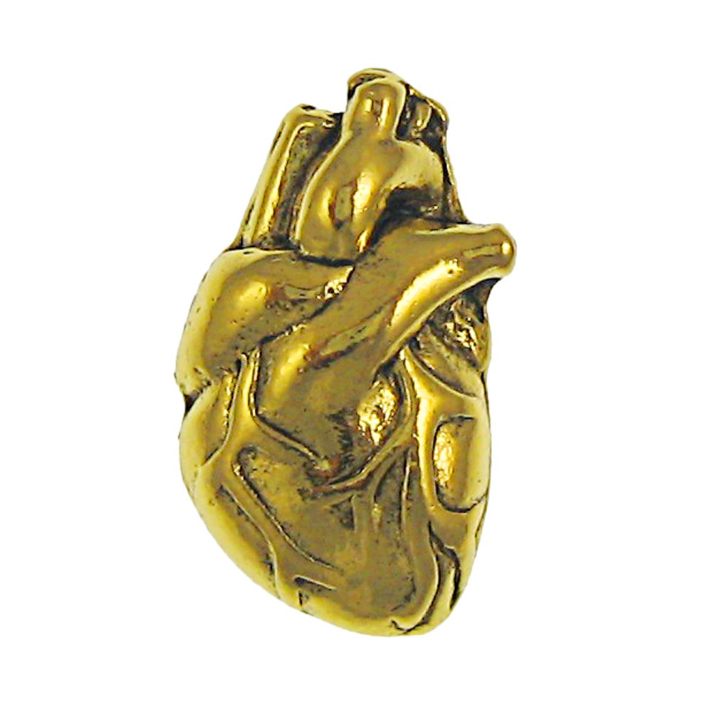 Jim Clift Design Human Heart Gold Lapel Pin - 10 Count