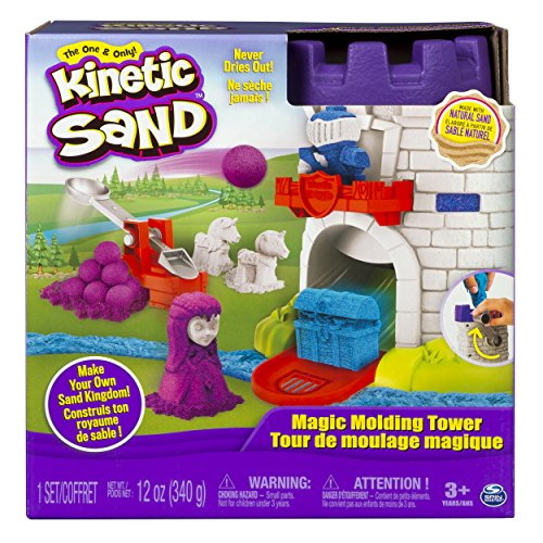 (The One and Only Kinetic Sand, Magic Molding Tower Playset with 12oz of  Kinetic Sand, for Ages 3 and Up )