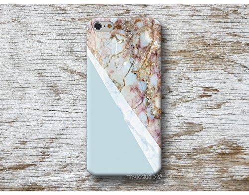 Blau Marmor Handy Hülle Handyhülle für Samsung Galaxy S9 S8 Plus S7 S6 Edge S5 S4 mini A3 A5 J3 J5 J7 Note 9 8 5 4 Core Grand Prime
