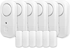 Life Alarm 360 Door Window Alarm 6-Pack, Wireless Personal Security Magnetic Sensor with Loud 125dB Burglar Alert, Home Protection for Kids Safety, Ideal for Home, Pool Door, Garage, and Apartment