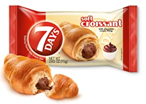 7Days Soft Croissant, Chocolate Filling, Perfect Breakfast Pastry or On-The-Go Snack, Non-GMO (Pack of 6)