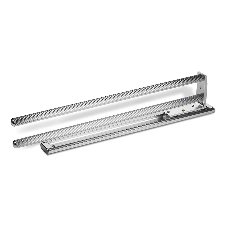 2 St/ück SO-TECH/® Handtuchhalter ausziehbar 2-armig drehbar 444 mm Chrom poliert Handtuchstange Handtuchauszug