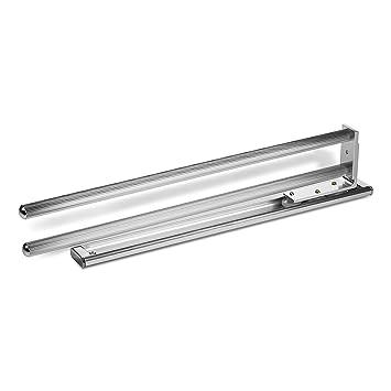 SO-TECH® Ausziehbarer Handtuchhalter 2-armig drehbar 444 mm Chrom ...
