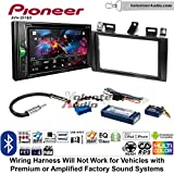Volunteer Audio Pioneer AVH-201EX Double Din Radio Install Kit with CD Player Bluetooth USB/AUX Fits 2000-2005 Cadillac Deville, 1996-2004 Seville With Bose