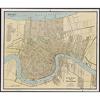 photograph regarding Printable Maps of New Orleans referred to as Imagekind Wall Artwork Print enled Classic Map Of Clean Orleans Louisiana (1919) through Alleycatshirts @Zazzle 29 x 24