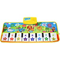 "Kids Piano Mat, 39.5"" X 14"" Music Mats Keyboard Dancing Mat Electronic Touch Play Blanket Musical Carpet Toys for 3-6…"