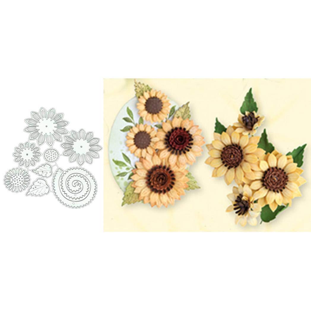Silver 2020 New Die Cuts,Ss-Lqlhy Flower Metal Cutting Dies DIY Scrapbook Paper Cards Making Craft Decor Stencil